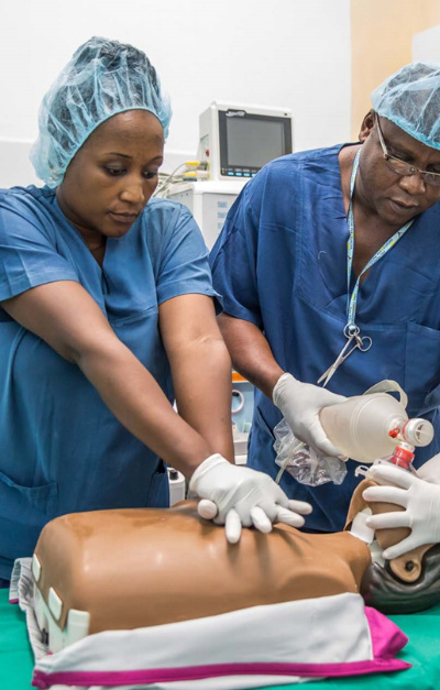 Life-saving training at CCBRT. Photo credit: