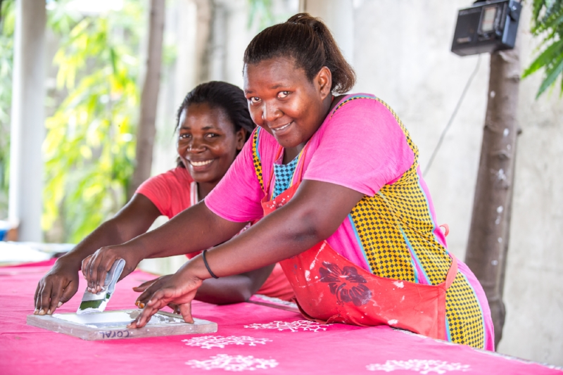 Vocational training at the Mabinti Centre. Photo credit: Sala Lewis