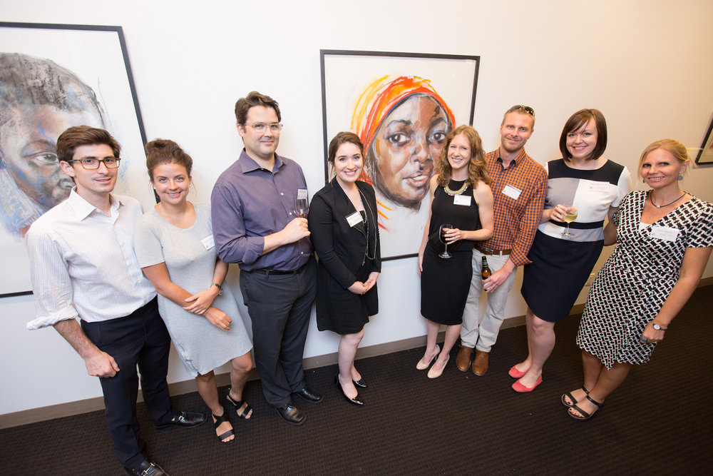 Kupona Foundation advisors, staff and supporters enjoying the exhibition. Photo credit: Todd Plitt