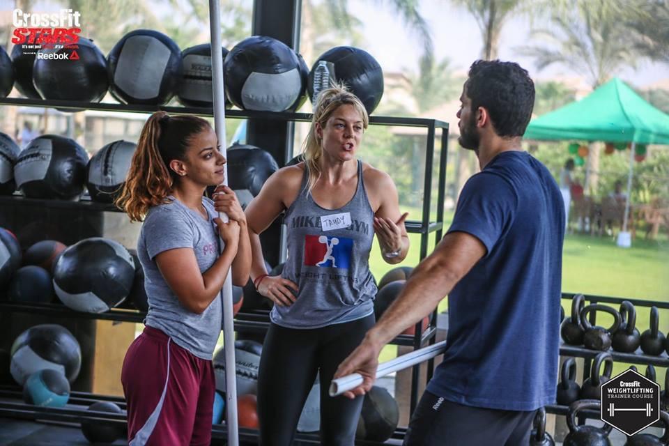 Coaching; Crossfit weightlifting seminar Crossfit Stars, Cairo, Egypt.