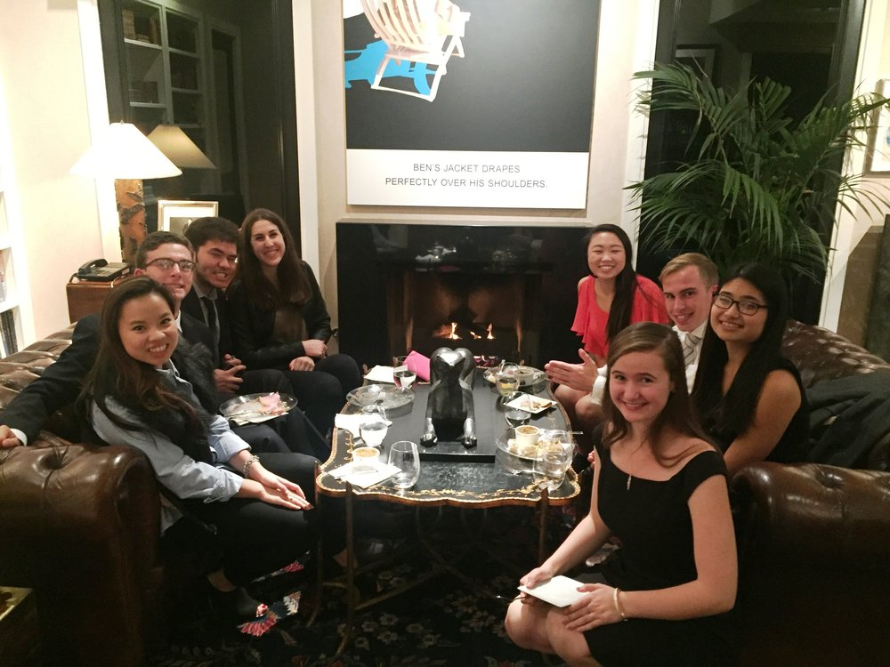 FINE DINING: Students had the opportunity to dine and interact with alumni at the event.