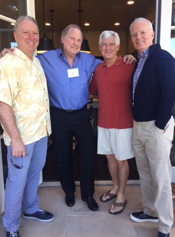 David Day, Michael Grindon '76, Gerry Sanoff '76, and Jay Conger at the event