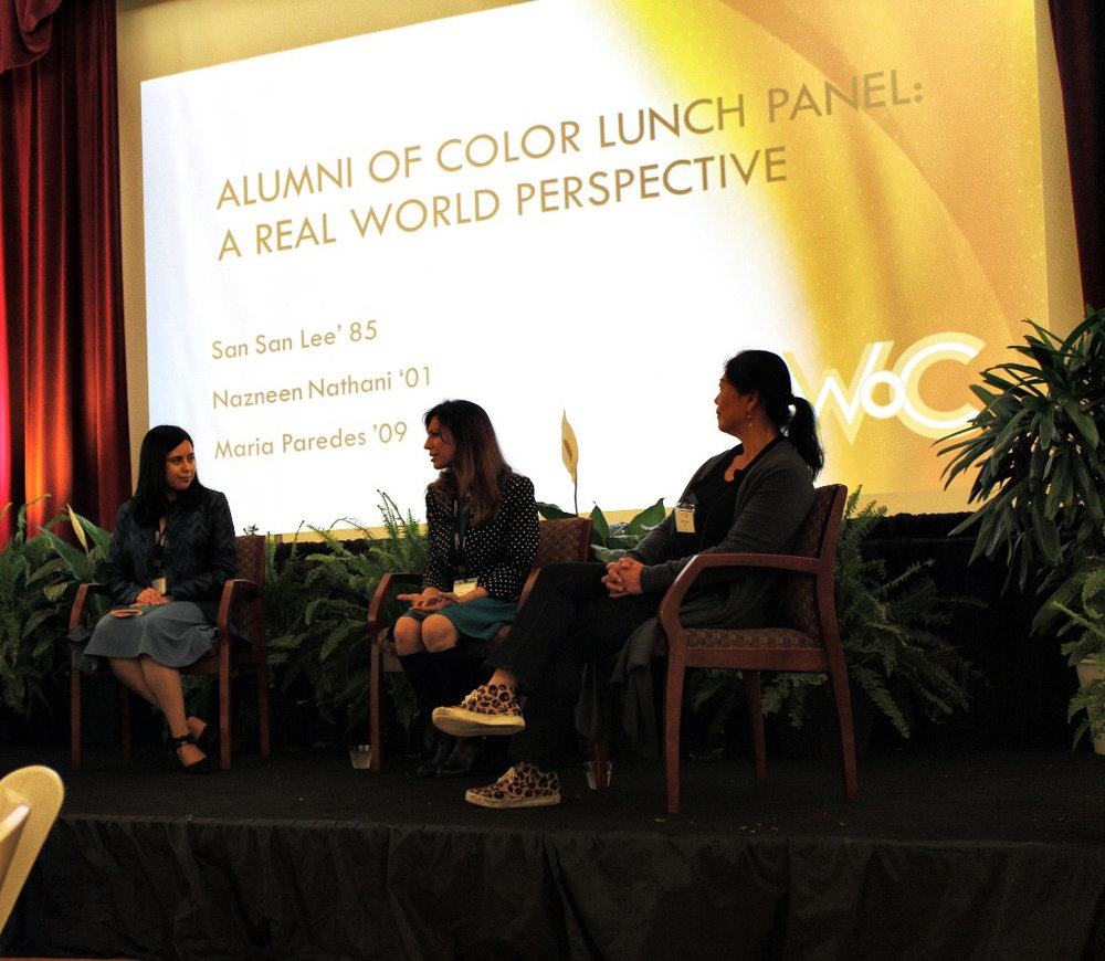 Panelists at the Alumni of Color Lunch Panel