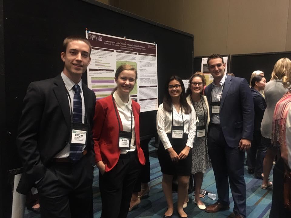 Student Team Members (Left to Right): Edgar Warnholtz '19, Alina Rainsford '20, Vanessa Romo '19, Leya Aronoff '19, Christian Tchamitchian '19