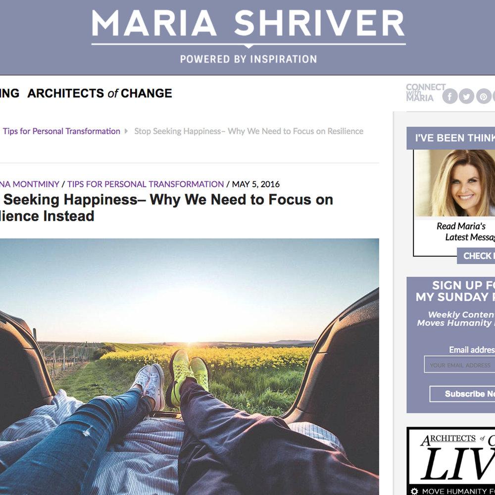 "MARIA SHRIVER ""ARCHITECTS OF CHANGE"""