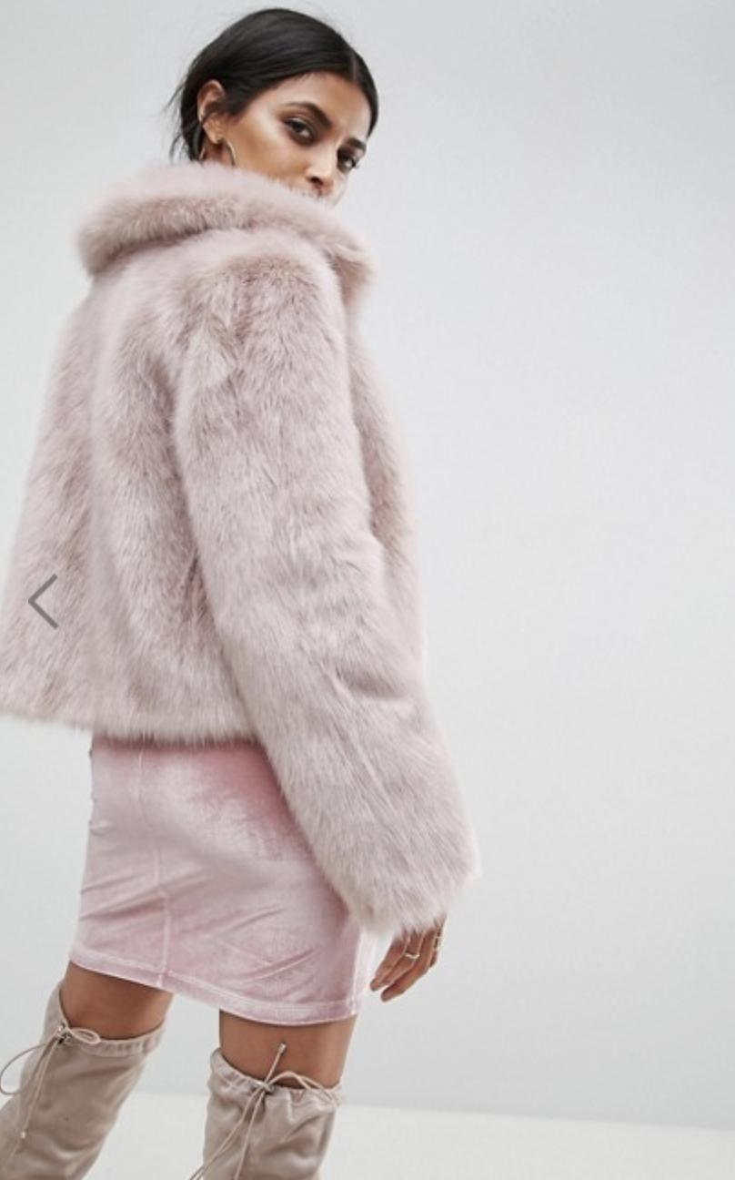 ASOS Chubby Vintage - Faux Fur Coat