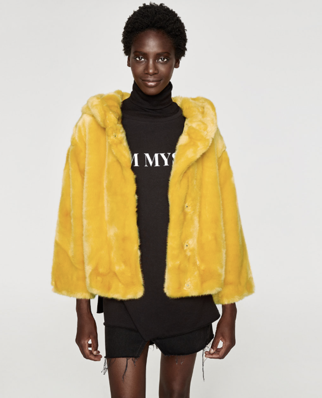 Zara has this beautiful yellow one! - Not-so-mellow yellow