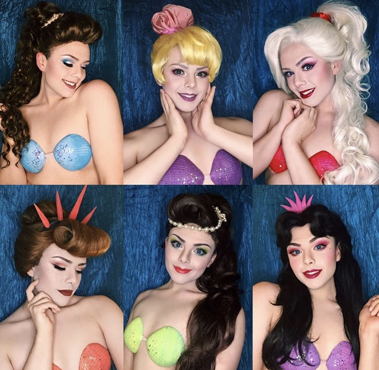 Richard as Ariel the Little Mermaid's many sisters