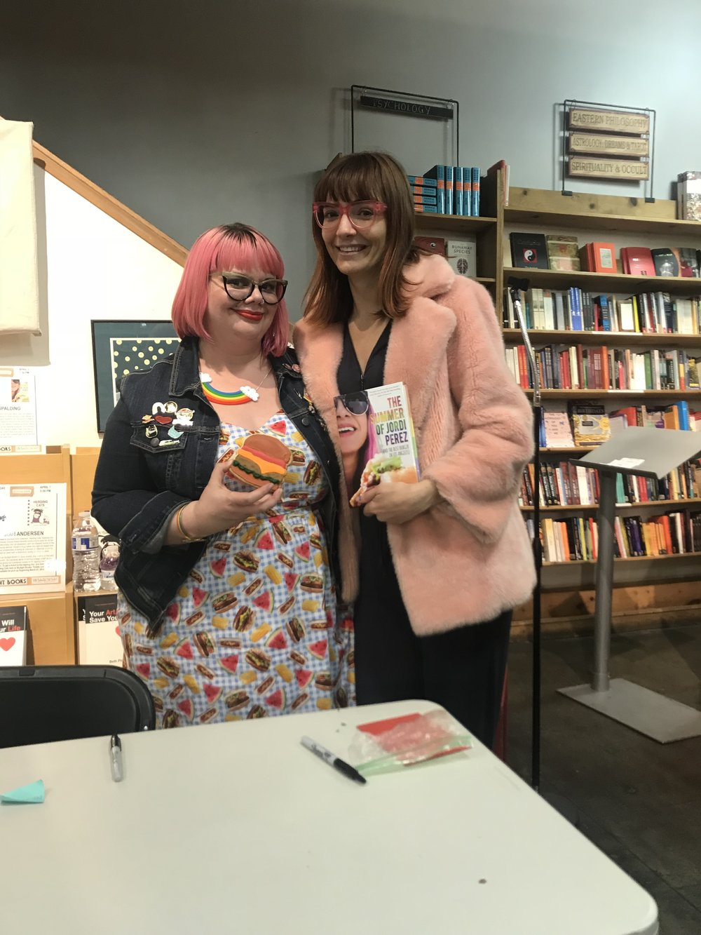 Amy and Jackie at Amy's book signing