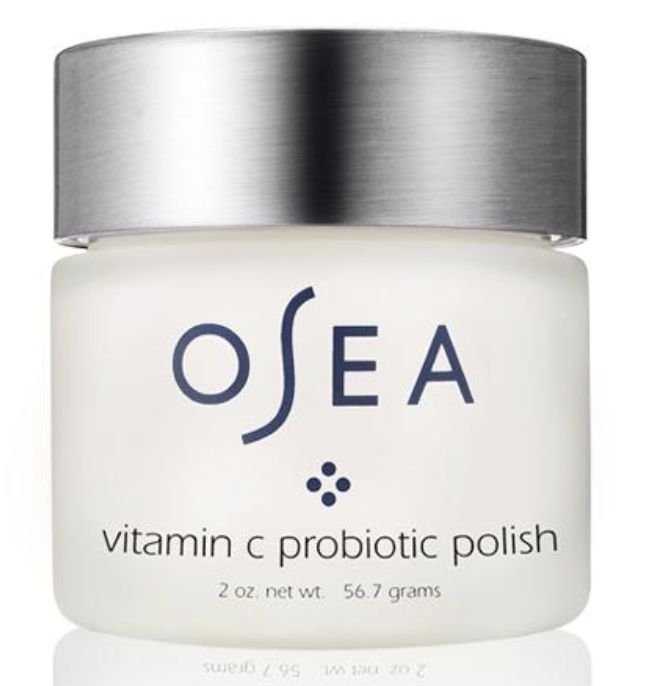 Vitamin C Probiotic Face Polish - This is a powdered exfoliant that will up the vibrancy of your skin. This is one of Osea's most inventive products. It combines pure Vitamin C with vegan probiotics, and the results are multiple: reduces the look of hyperpigmentation, smoothes, brightens your complexion, removes surface build-up, buffs away dull skin. It's potent, it's powerful, and it's hands-down one of my FAVES!