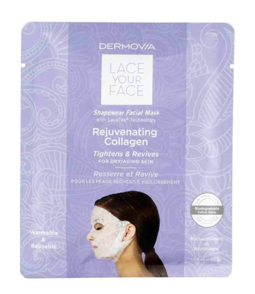Dermovia Lace Your Face rejuvenating collagen shape wear facial mask