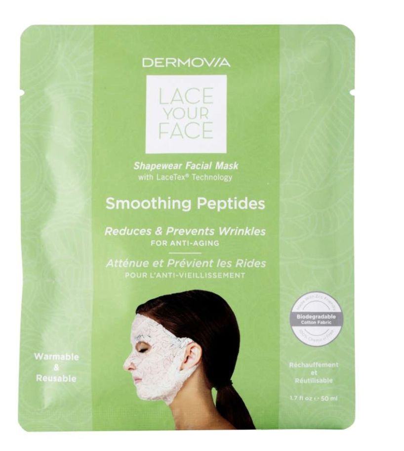 Dermovia Lace Your Face smoothing peptides shape wear facial mask