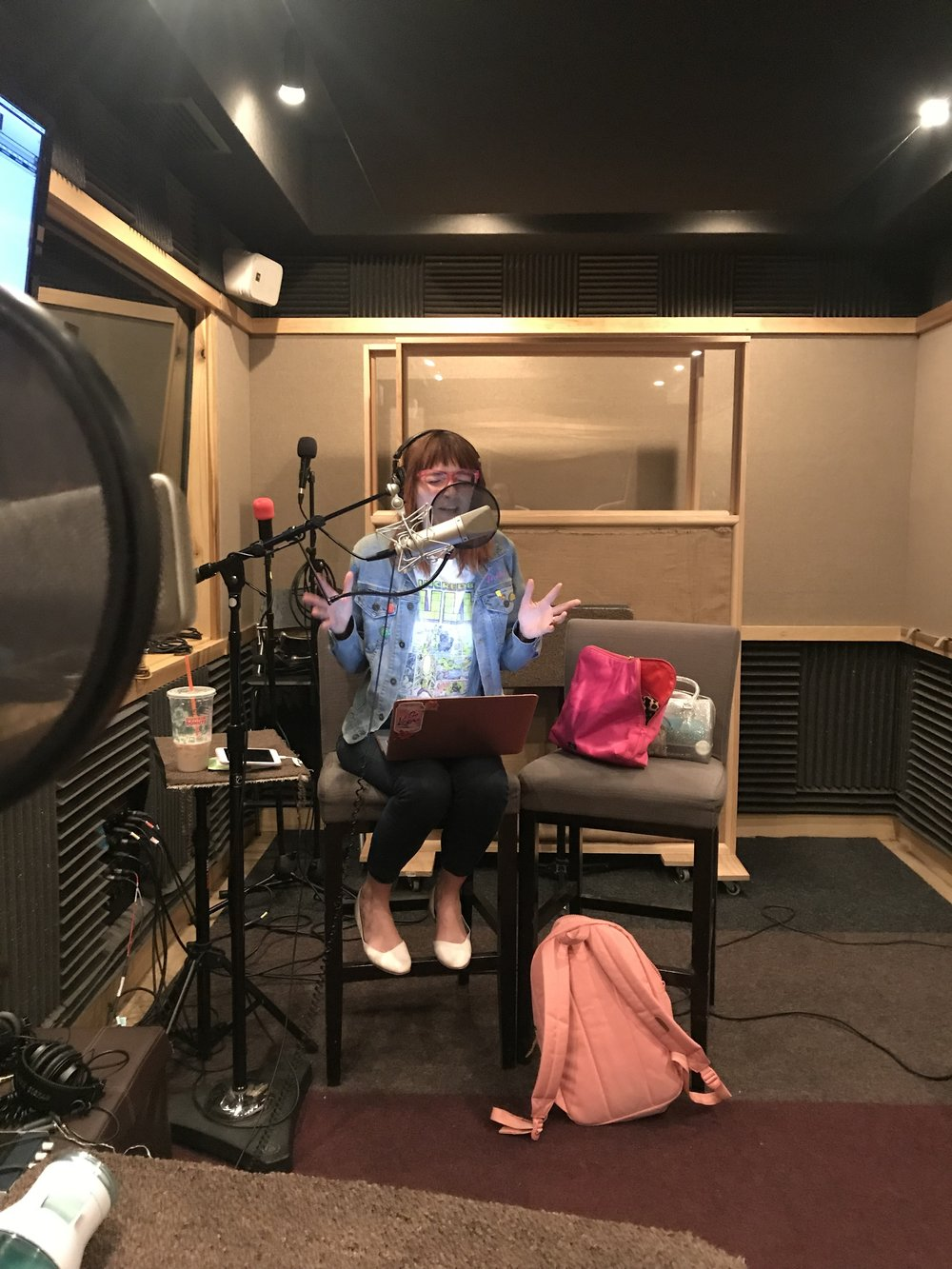Jackie in studio
