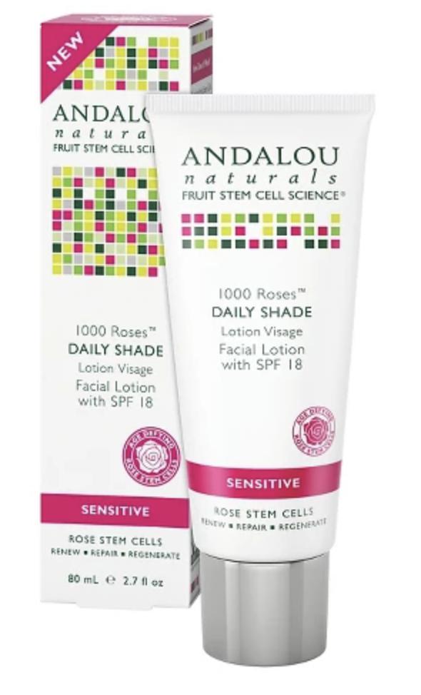 Andalou Naturals 1000 Roses Daily Shade Facial Lotion with SPF 18