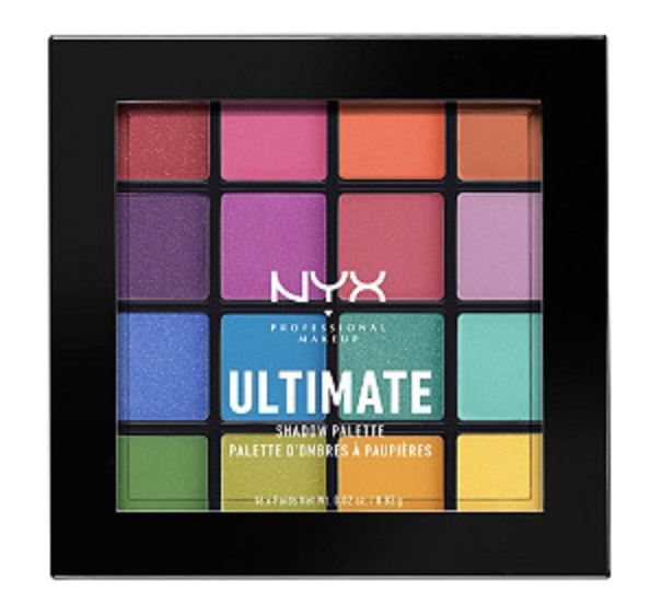 NYX ultimate brights shadow palette (It does have carmine in it- BOO!)