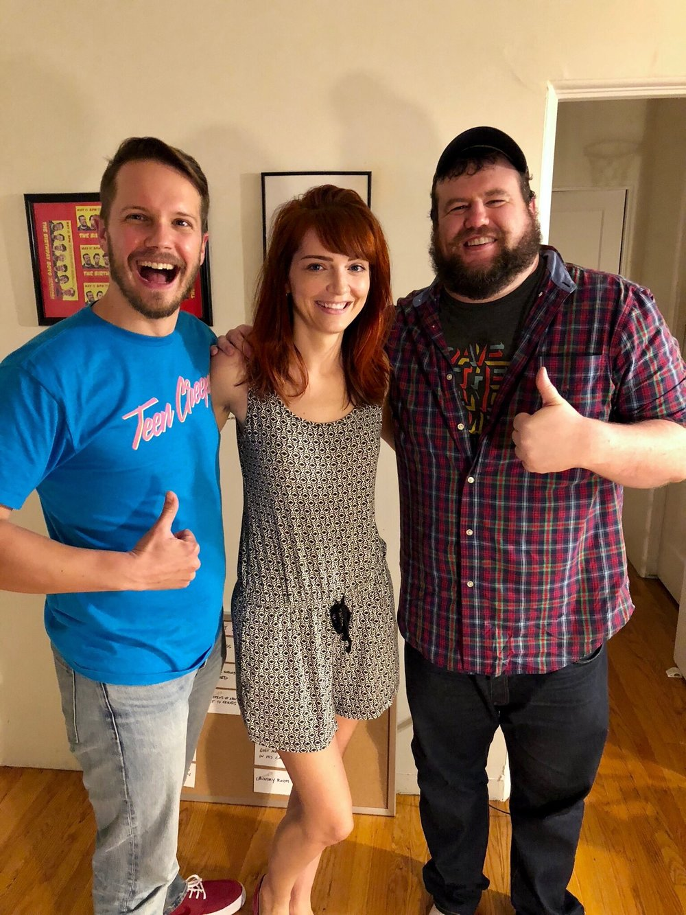 Jackie Johnson with Mitch and Nick of the Doughboys podcast.