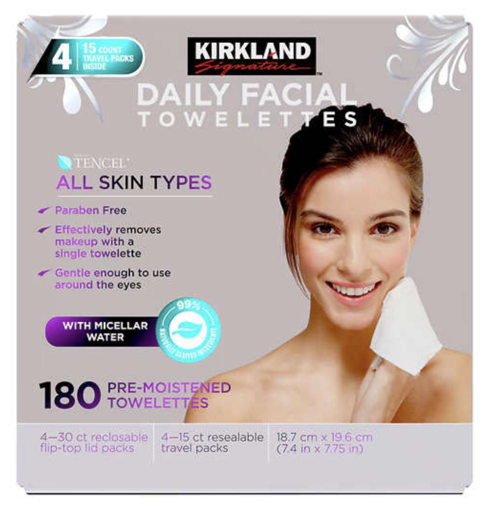 Kirkland signature makeup wipes