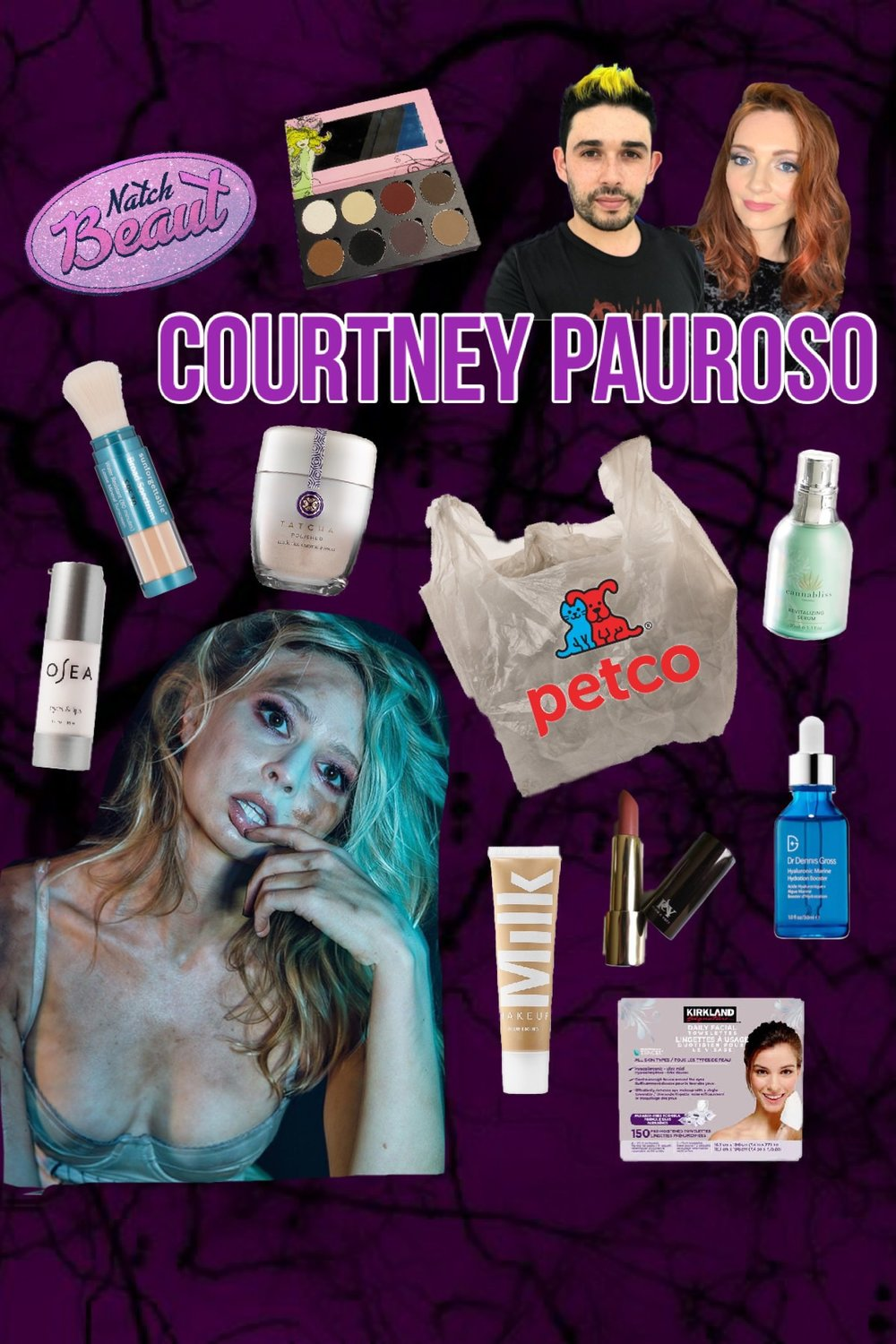 Courtney Pauroso and her plastic PetCo bag of products.