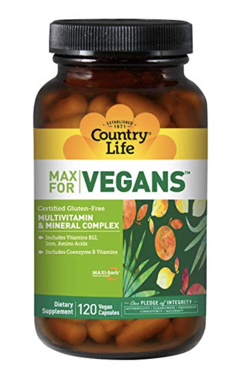 Country life max multivitamin for vegans