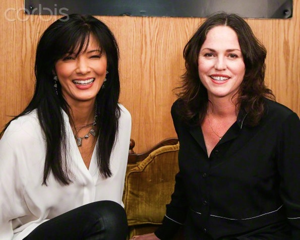 Kelly Hu and Jorja Fox