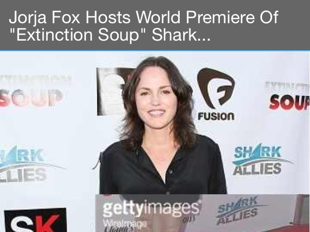 Jorja Fox on red carpet