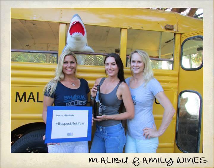 Shark Allies team Malibu Wines shark event