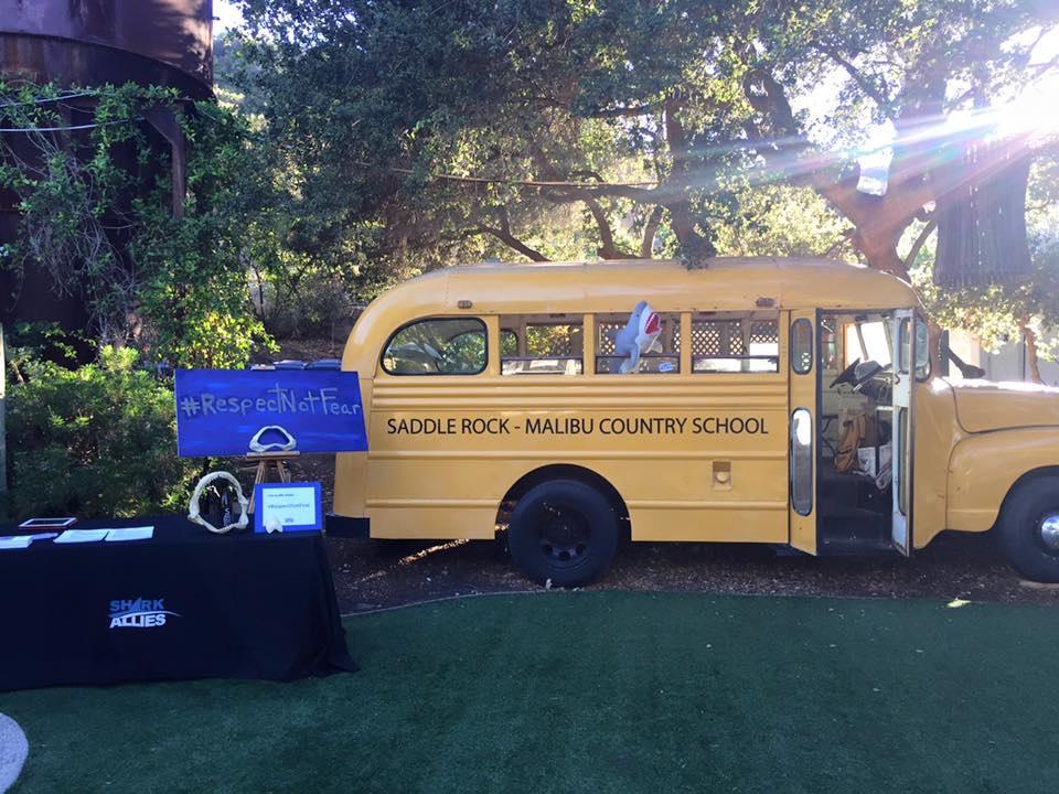 Display Malibu Wines shark event