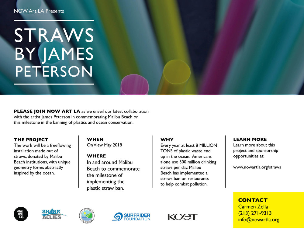 NowArt LA flyer for straw sculpture event
