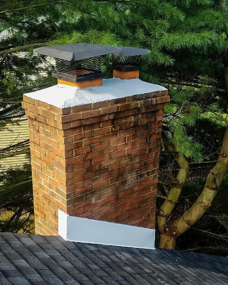Chimney repointing and new flashing