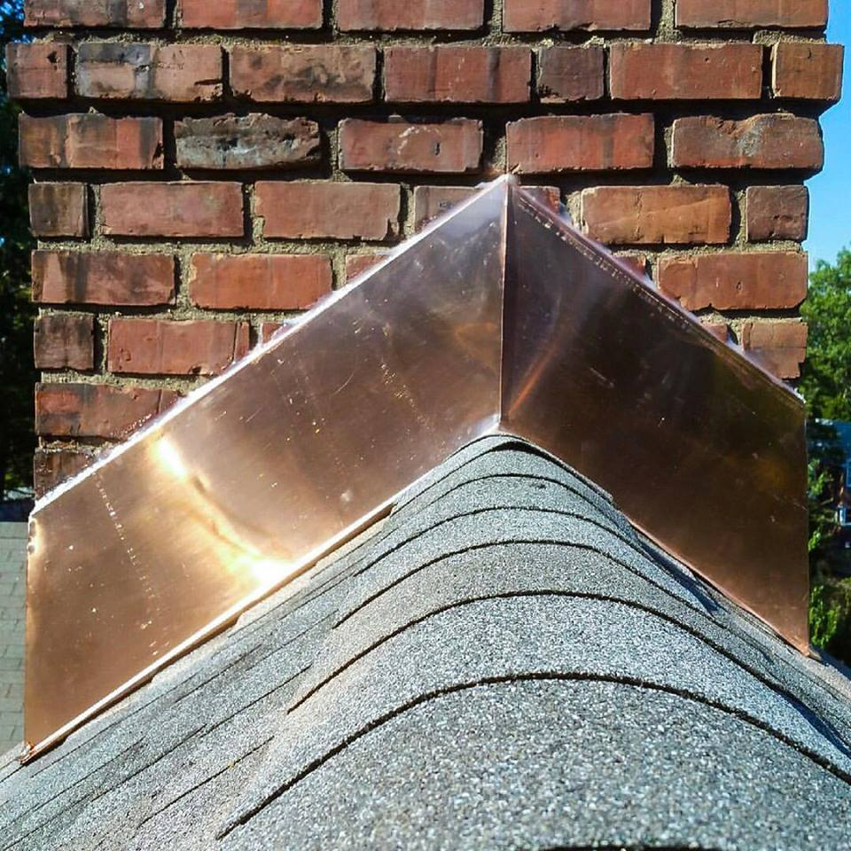 Copper chimney flashing can make your home pop!