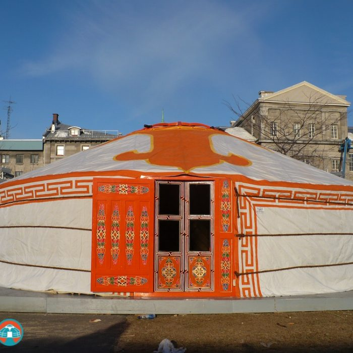 """8-WALLS""-30′ YURT - $16,900Complete with high quality felt insulation and hand painted wood structure, decorated water resistant canvas, all necessary ropes and linings, a double window door frame, a vinyl covering on half of the tonoo (top window)diameter: 31 feet (9m)walls height: 6 feet 1(1.8m)height in center: 10 feet (3.1m)dimensions might vary slightly"