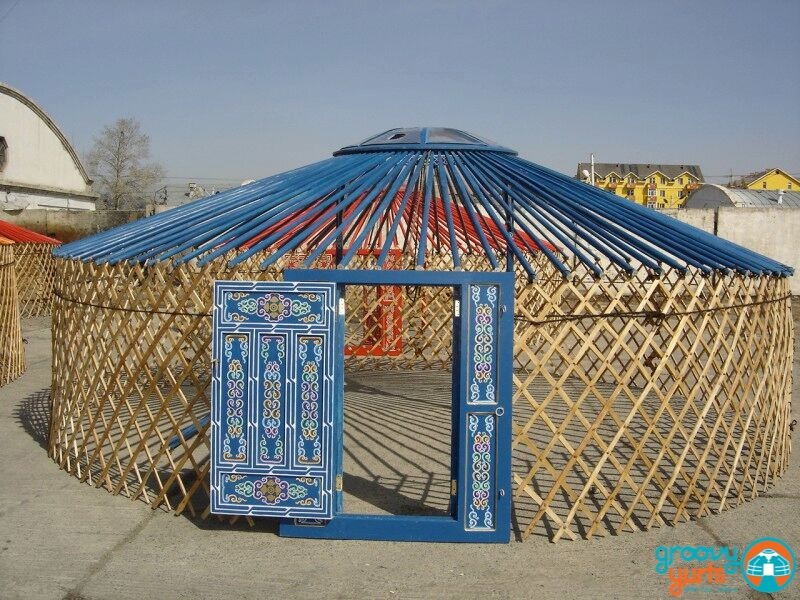 the skeleton of a yurt