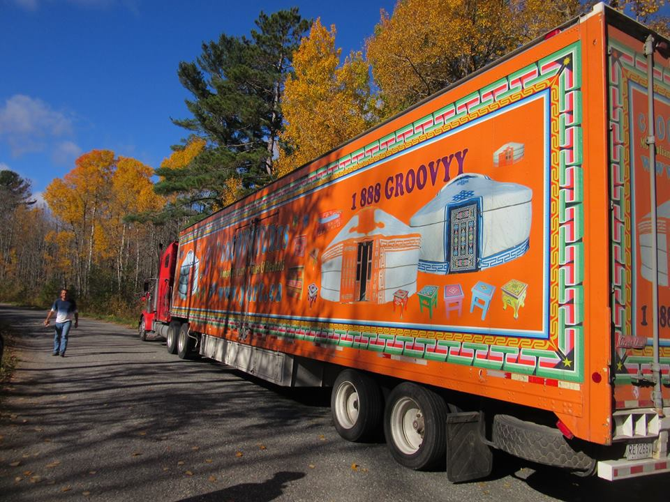 The groovy yurts truck