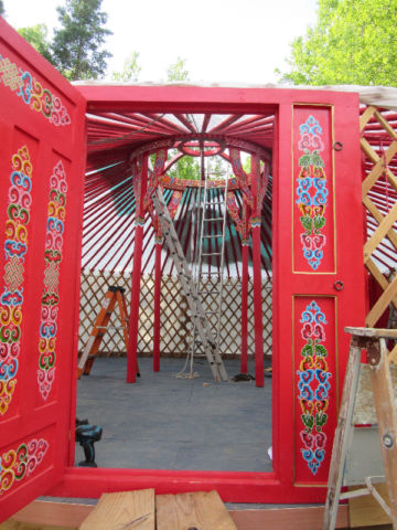 A yurt can be installed in a day