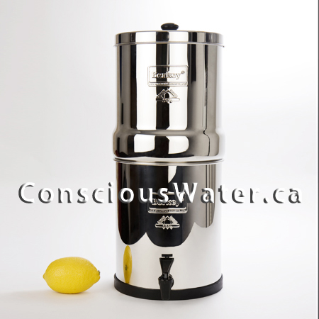 Berkey Water Filter Canada - The Funky Farmers drink filtered and purified well water and lake water from their Berkey Water Filter System. It is perfect for off grid set ups, or if you are wanting to clean up your water and eliminate fluoride from your drinking water. Check out Concious Water for all of their options !