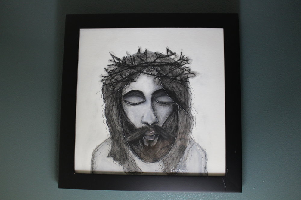 Portrait of Jesus #1 by Constance Reeder Art
