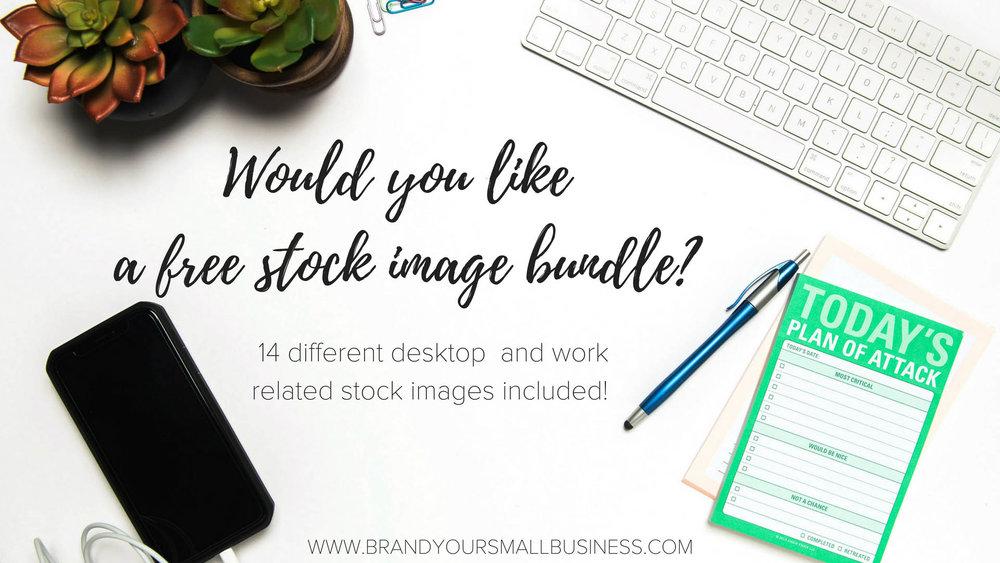 Would you like a free stock image bundle #smallbusiness #branding #stockimages #marketing #businessplanning