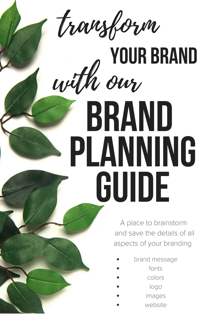 Is your company messaging clear and consistant? Get our free brand planning guide to help you brainstorm and save all the aspects of your branding and messaging.