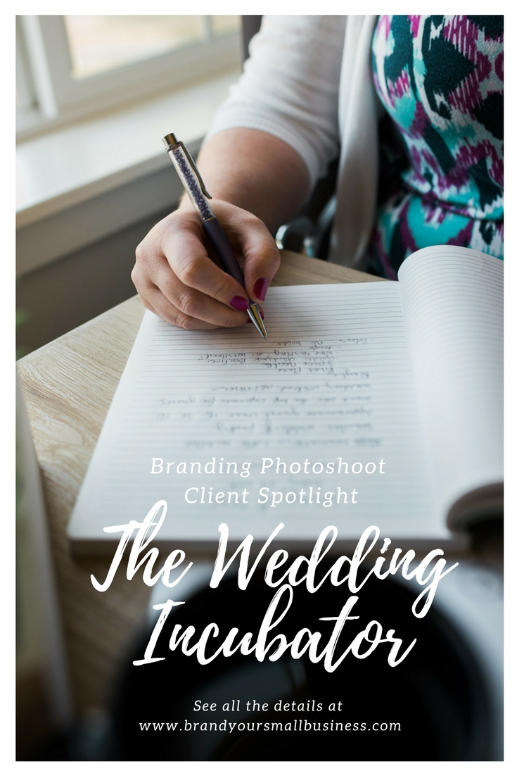 small business branding photoshoot client spotlight with the wedding incubator