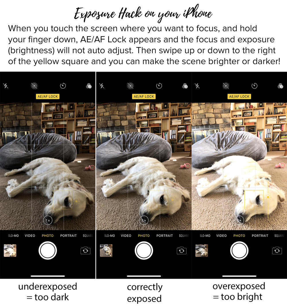 How to control the focus and exposure (brightness) on your iPhone photos. Tips for better Instagram photos