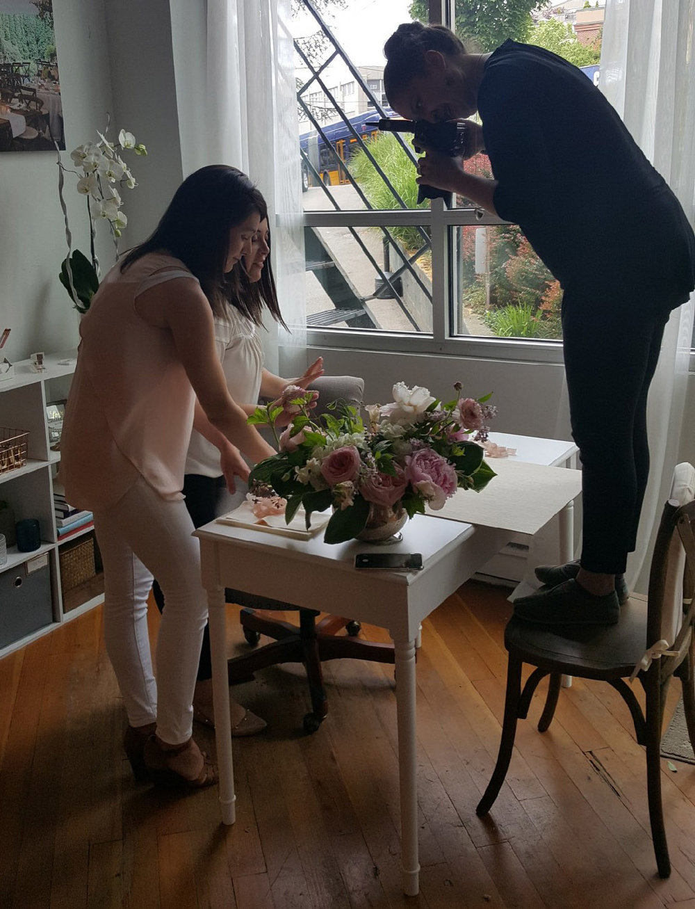 Behind the scenes of a branding shoot with seattle branding photographer Rebecca Ellison.
