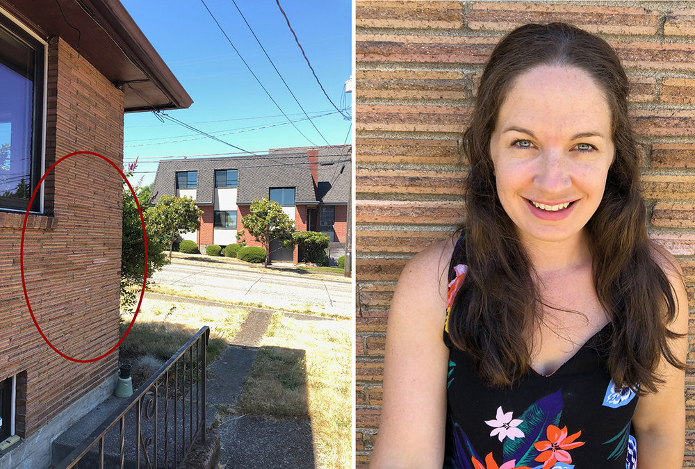 This photo I shot of myself with a selfie stick while standing up against this wall. It was a 80+ degree day in the summer at about 2:30pm (which is the worst time to be shooting outdoors) , and I was in the open shade next to this brick house. The red circle shows where I was standing for the photo on the left.  For better results, I would suggest not using the front facing camera, and have someone else take the photo, as the front facing camera isn't as good of a camera as the back facing one, but I wanted to show you what open shade looks like and how easy it is to have a great image from it!