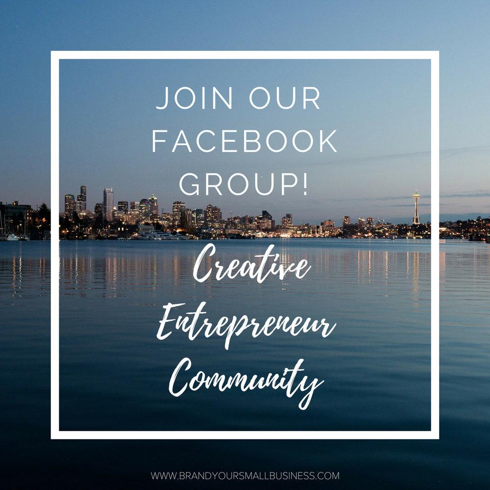 Creative Entrepreneur Community Facebook Group