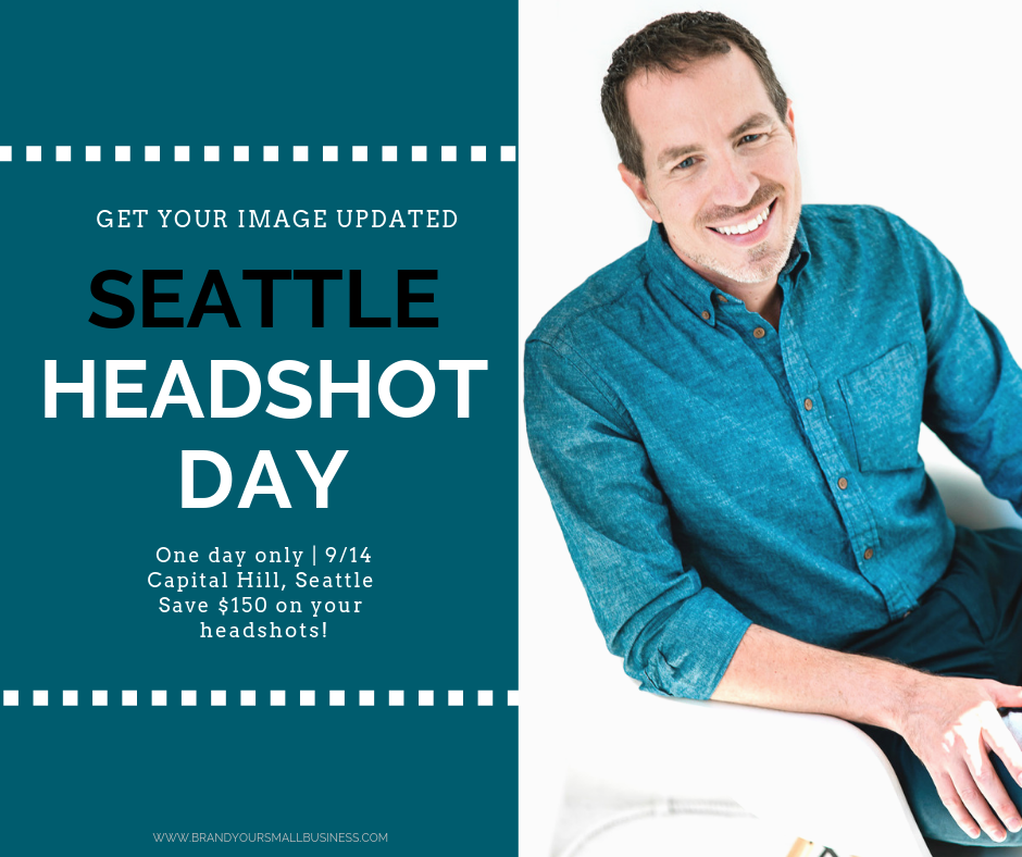 Special for Headshots in Seattle. Save $150