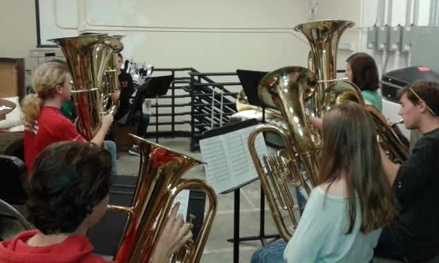 ballard high school tuba/euphonium section, 2017