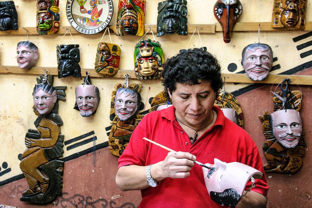 Mask Artisan, Chichicastenango, Guatemala, 2011.