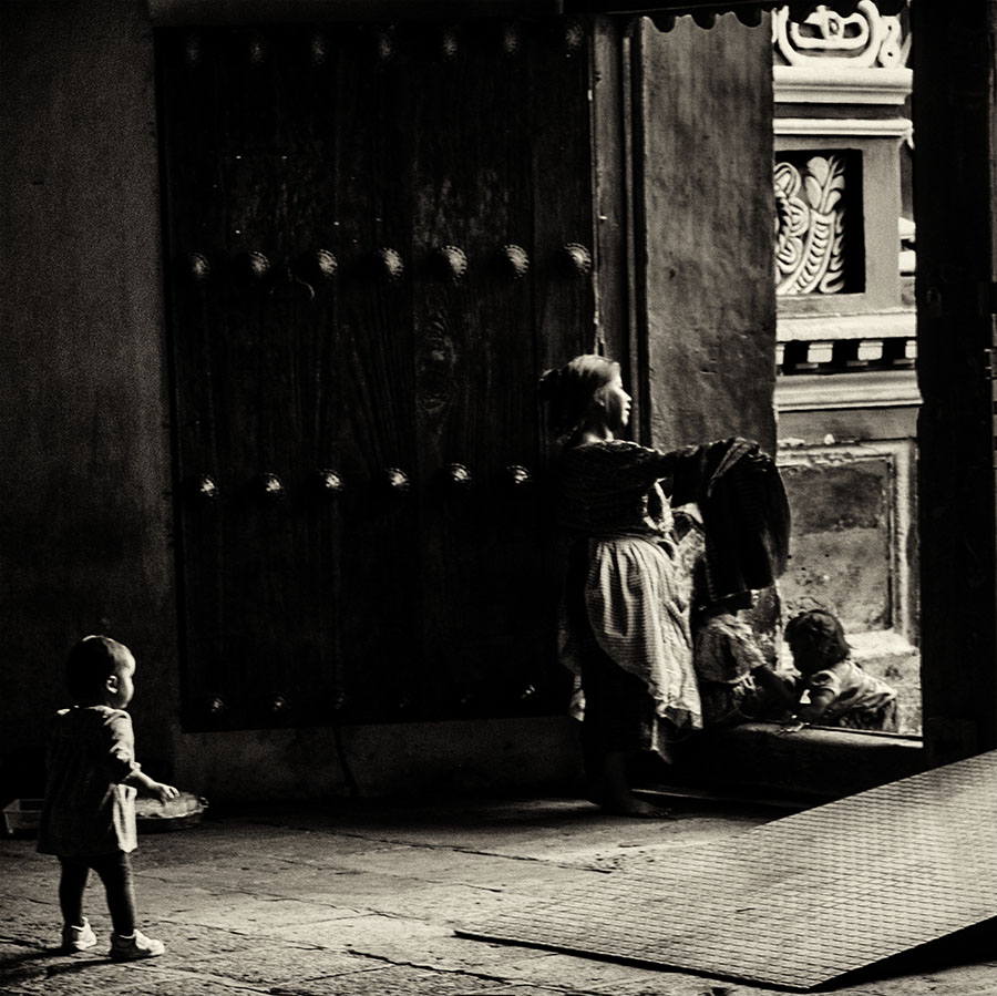 At the Church Door, Antigua, Guatemala, 2011