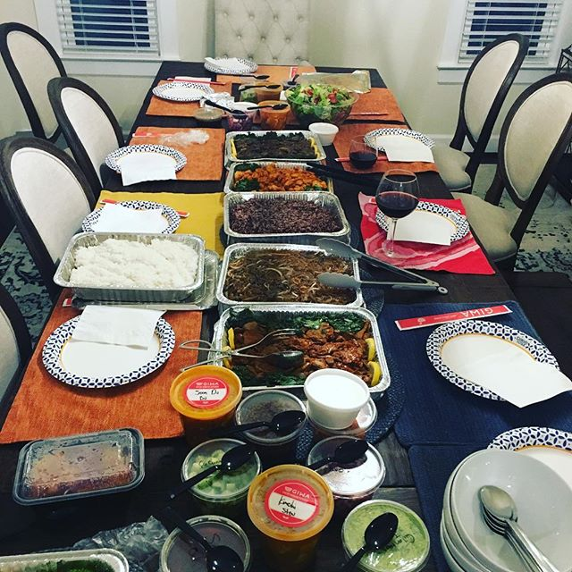 shout out to @laurrice29 for choosing @giwakitchen for her dinner party! #catering #koreanfood #phillyfoodie #swagfoodphilly #eaterphilly #phillyeats #bestfoodphilly #bulgogi #kimchijigae #bibimbop