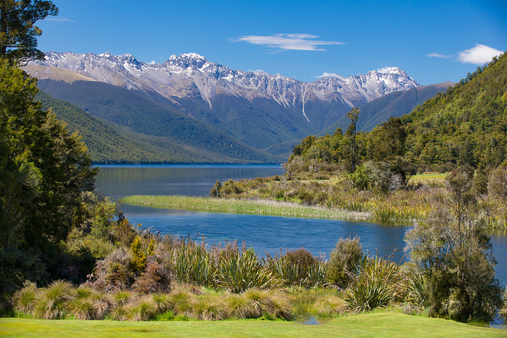 Lake Rotorua from Lake Rotorua Lodge Nelson Lakes National Park New Zealand