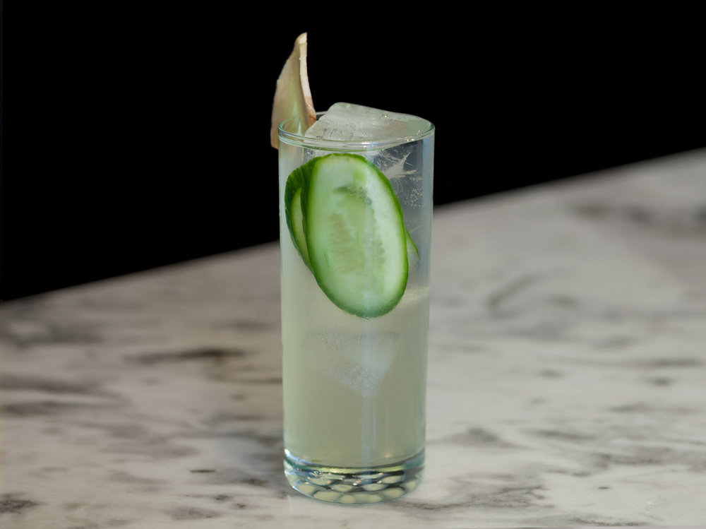 Sake Moscow Mule   - 60ml Tōji Sake15ml lemon juiceSome ginger, cubedCucumber slicesGinger BeerIceMuddle ginger and add in Tōji Sake, lemon juice, and cucumber slices. Add ice and stir until the ingredients are slightly diluted Top with ginger beerGarnish -- slice of gingerEnjoy, Kanpai